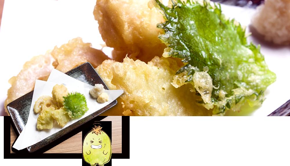鶏と野菜とさぼ天